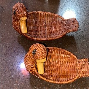 Other - Vintage wicker ducks
